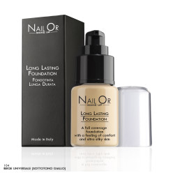 Long Lasting Foundation 104 Sottotono Giallo - Fondotinta Lunga Durata - Nail Or Make Up